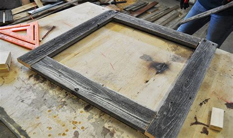 Build A Frame by How To Make A Barnwood Picture Frame