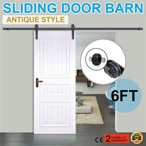 Sliding Closet Door Track Kit Sliding Barn Wood Door Closet Hanger Gear Kit Door Track Rail Hardware Set Ebay