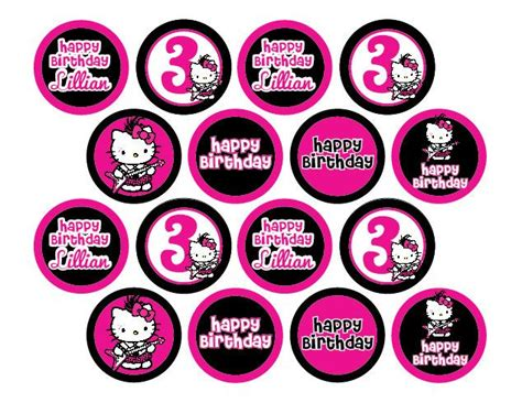 Hello Cupcake Topper Template by Hello Rock Or Zebra Print Cupcake Toppers