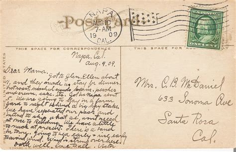 A Postcard From by The 1909 Postcards