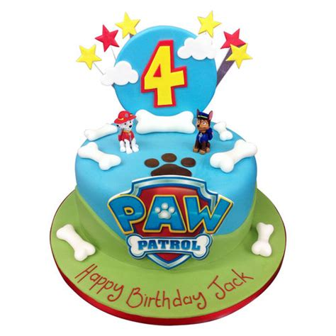 Gift Wrapping Cookies Ideas - paw patrol cake birthday cakes the cake store