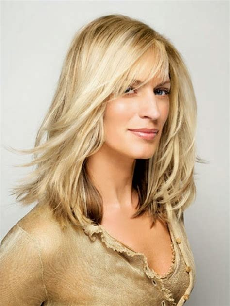 hairstyles for thin hair round face over 40 long hairstyles for women over 40 with fine hair
