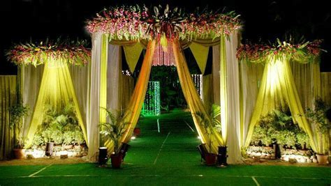Wedding and reception flower decoration and stage