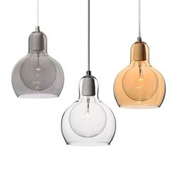 pendant light in blown glass modern mini pendant light