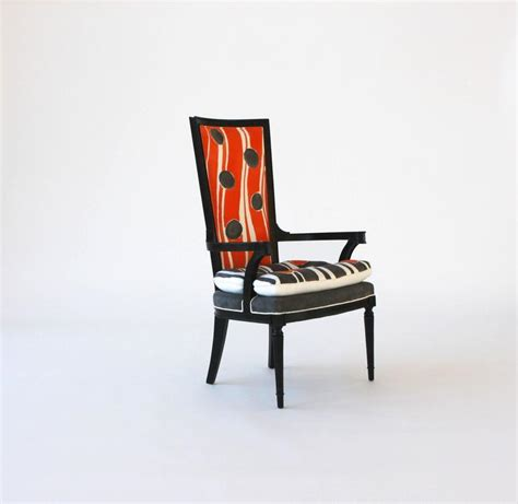 High Back Dining Room Chairs With Arms Painted High Back Arm Or Dining Chair For Sale At 1stdibs