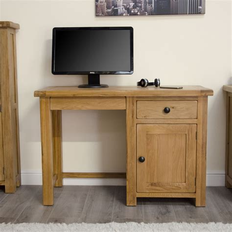 Small Oak Desk by Original Rustic Solid Oak Furniture Small Computer Laptop