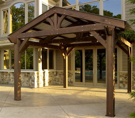 garden pergola with roof enhanced homes