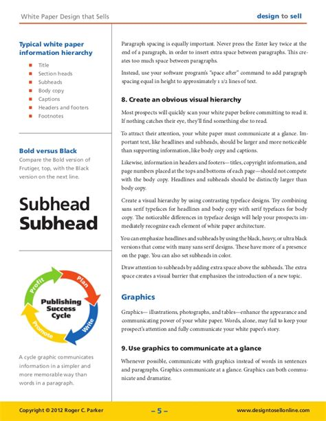white paper design tips that sell