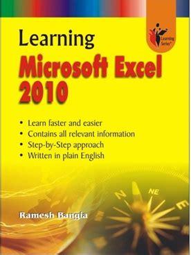 learning microsoft excel book learning microsoft excel 2010 bookganga com