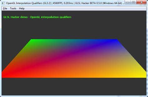 Glsl Layout Qualifier Version | opengl interpolation qualifiers glsl geeks3d