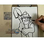 COMO DIBUJAR A MINERO  CLASH ROYALE / How To Draw Miner
