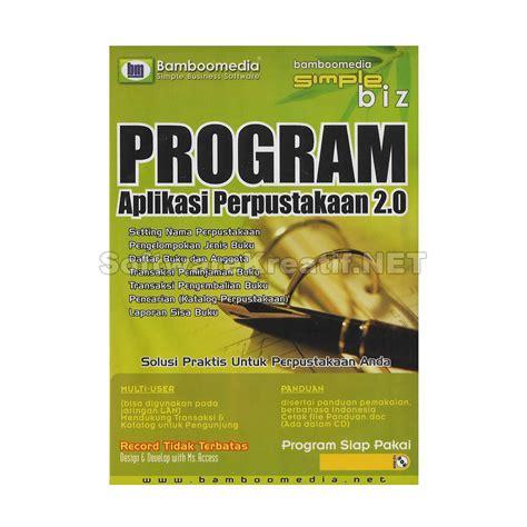 Software Untuk Perpustakaan jual program aplikasi perpustakaan 2 0