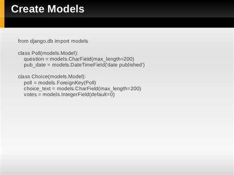 django creating a model a basic django introduction
