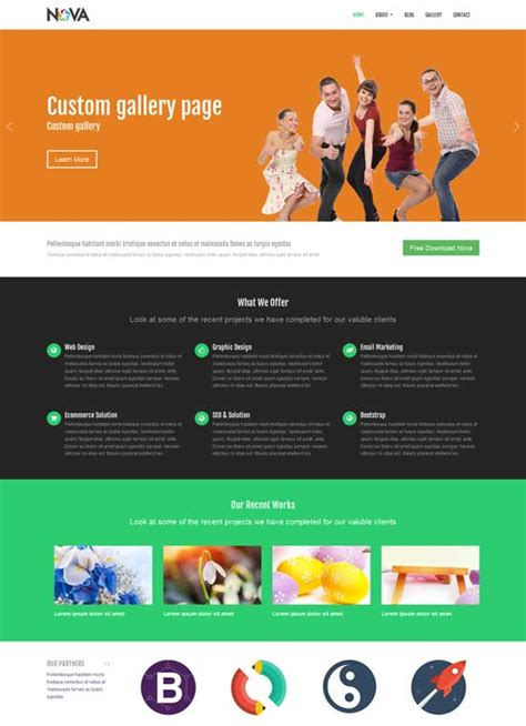 templates bootstrap products nova responsive website theme bootstrap