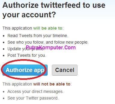 cara membuat twitter update otomatis cara menggunakan twiterfeed