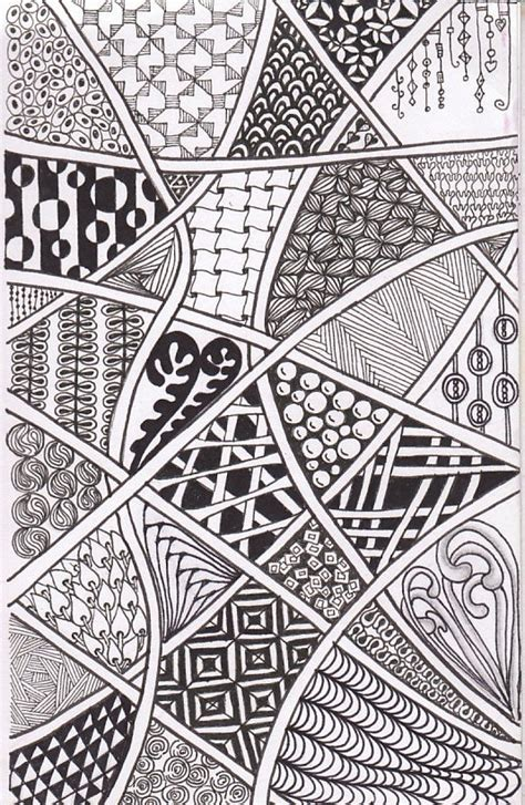 pattern of doodle we ve been requested to do more zentangles with the