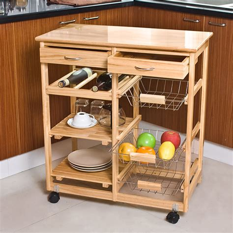 Kitchen Cart With Shelves by Kitchen Cart Kitchen Trolley With Shelves Drawer
