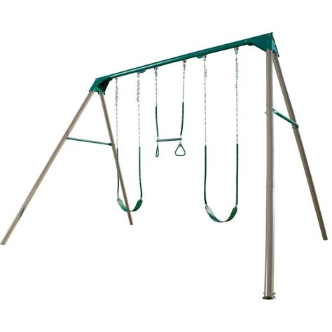 swing set swings lifetime a frame deluxe swing set 290038 the home depot