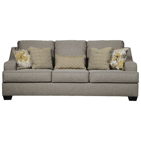 benchcraft mandee  sofa  contemporary style northeast factory direct sofas