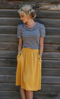 mustard cute pockets skirt modest dresses and clothing