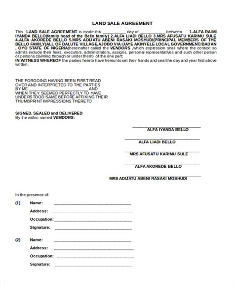 land sale agreement template land sale agreement template land sale agreement template