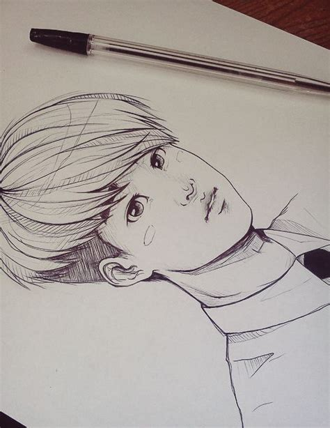 Kpop Sketches by Draw Lineart Fanart Exo D O Kyungsoo Draw