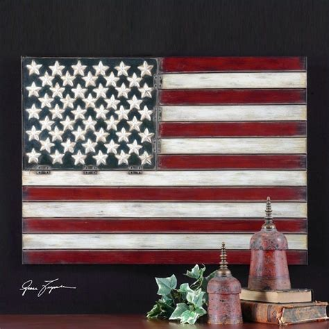 American Flag Home Decor Uttermost American Flag Metal Wall 13480
