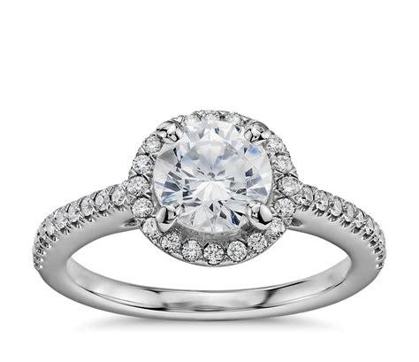 1 carat preset classic halo engagement ring in
