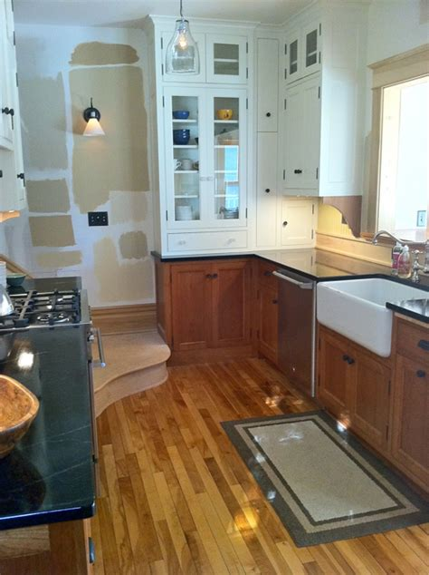 Gardenweb Kitchen Forum by Small Kitchen Can I Mix Cabinets Finishes