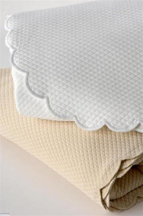 scalloped coverlet traditions linens bedding ivone scalloped matelasse