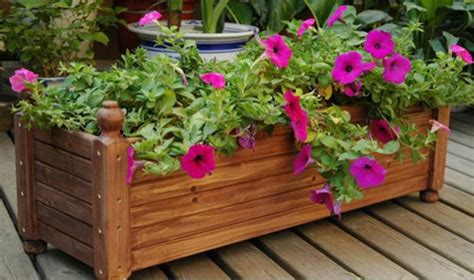 Garden Flower Boxes Wooden Flower Pots Ideas Modern Magazin