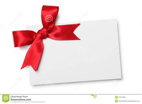 ribbon for card blank card with ribbon bow royalty free stock photo