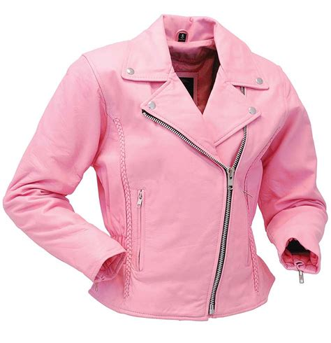 pink motorcycle jacket light pink leather jacket road motorcycle jacket