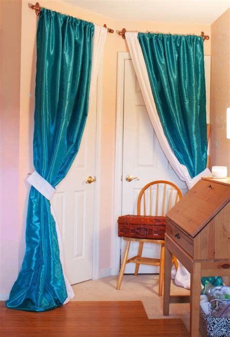 homemade curtains diy sewing room glam up series closet door drapes and