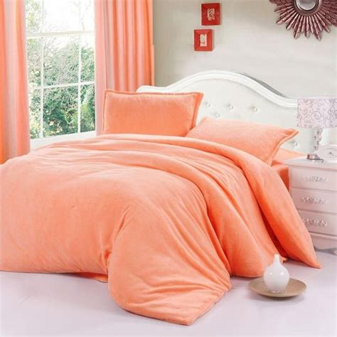 coral colored bedding bedding set quilt cover hometextile solid color thickening