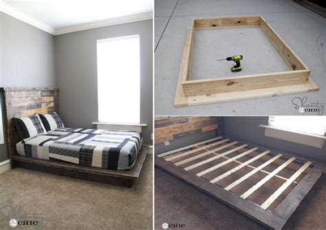 easy diy platform bed  plan home design garden