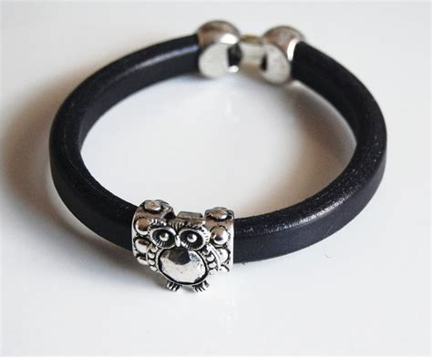 Gelang Dominica Leather Bracelets s black licorice leather bracelets leather bracelet ferozasjewelery pinklion