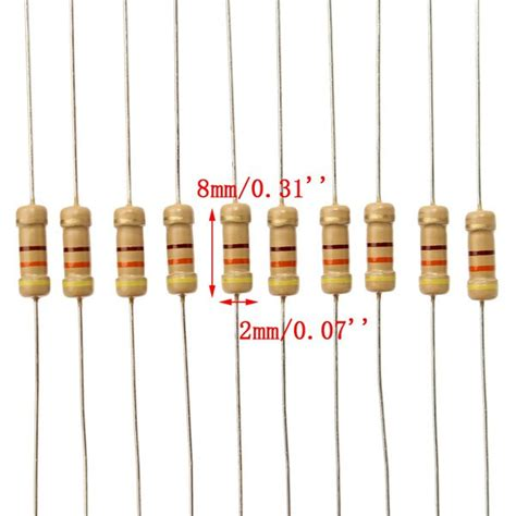 precision resistor assortment 2500pcs 1 1 4w 0 25w carbon metal resistor 50 values assortment kit 1ω 10mω range alex nld