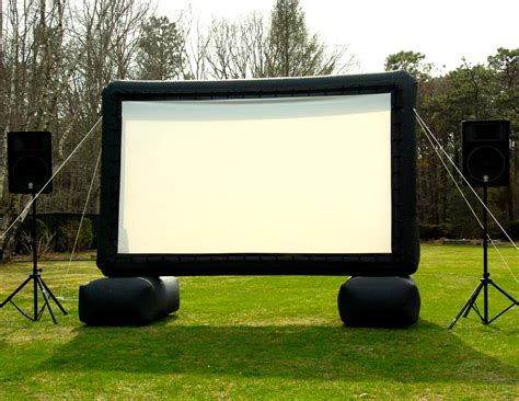 backyard movie rental inflatable movie screen rentals in akron canton