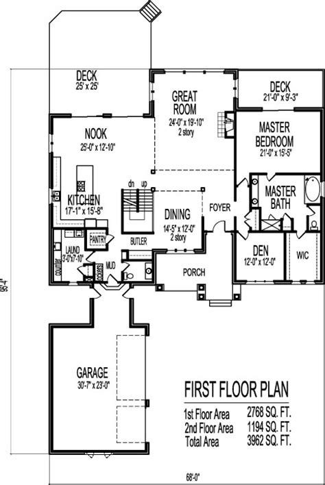 third floor 2 story open floor house plans modern two