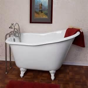 52 quot wallace cast iron slipper clawfoot tub bathroom