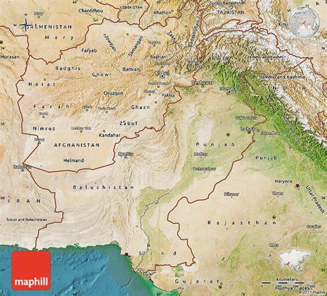 pakistan map satellite satellite map of pakistan