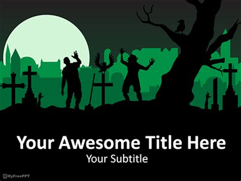 zombie themes for powerpoint zombie powerpoint template free zombies powerpoint