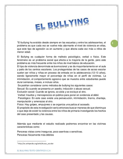 articulo bullying slideshare el bullying