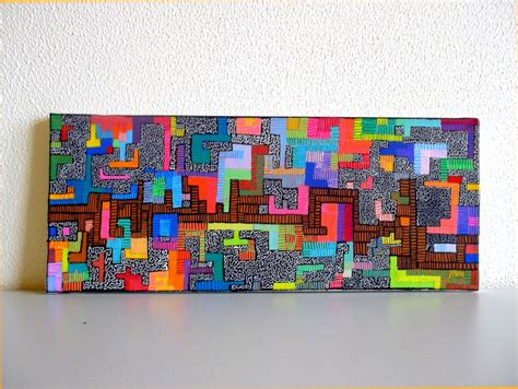 lego painting original artwork lego acrylic painting by