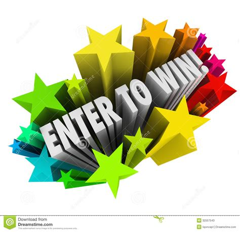 Enter Contests To Win Money - enter to win stars fireworks contest raffle entry jackpot stock illustration image