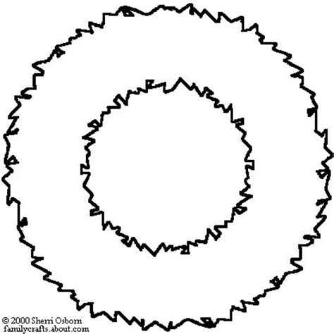 Christmas Wreath Clipart Outline Clipground Wreath Template