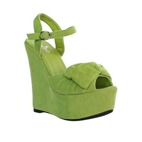 the gallery for gt lime wedge shoes