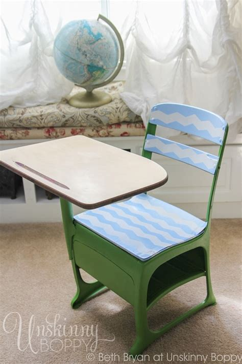 diy student desk thrift store makeover vintage student desk edition unskinny boppy