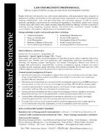 enforcement professional resume